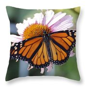 The Monarch Landed Throw Pillow