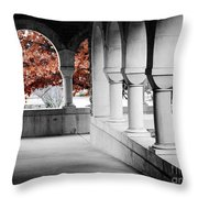 The Monastery In Autumn Throw Pillow
