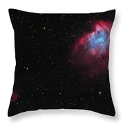 The Monkey Head Nebula And Sh2-247 Throw Pillow