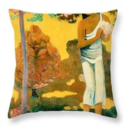 The Month Of Mary Throw Pillow