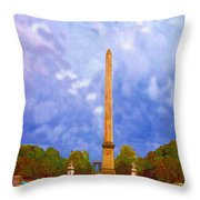 The Monument's Parking Lot Digital Art By Cathy Anderson Throw Pillow