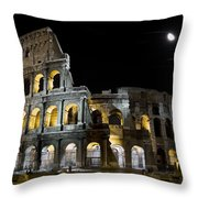 The Moon Above The Colosseum No1 Throw Pillow