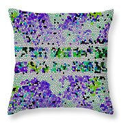 The Moon Abstract Throw Pillow