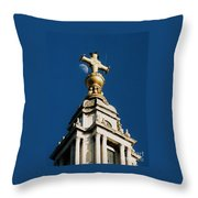 The Moon And St Paul's   Throw Pillow