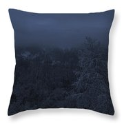 The Moon Is Setting Throw Pillow