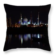 The Moonlit Mosque Throw Pillow by Farah Faizal