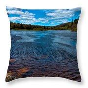 The Moose River At The Green Bridge Throw Pillow