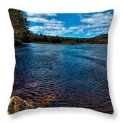The Moose River In The Spring Throw Pillow