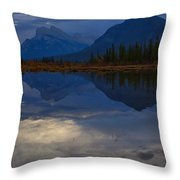The Morning Blues Throw Pillow