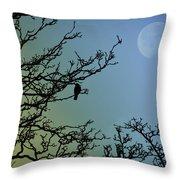 The Morning Moon Throw Pillow
