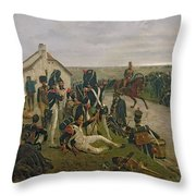 The Morning Of The Battle Of Waterloo Throw Pillow