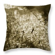 The Morning Pearls Throw Pillow