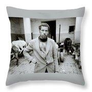 The Moroccan Farmer Throw Pillow