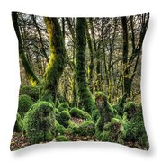 The Mossy Creatures Of The  Old Beech Forest 1 Throw Pillow