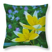 The Most Beautiful Flowers Throw Pillow