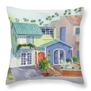 The Most Colorful Home In Belmont Shore Throw Pillow