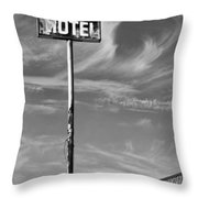 The Motel Bw Palm Springs Throw Pillow