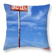 The Motel Palm Springs Desert Hot Springs Throw Pillow