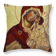 The Mother Of God -the Don Icon Throw Pillow