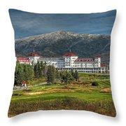 The Mount Washington Hotel Throw Pillow