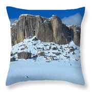 The Mountain Citadel Throw Pillow
