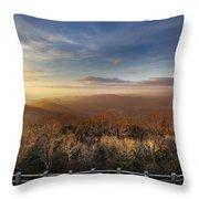 The Mountains Of Brasstown Bald Throw Pillow