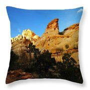 The Mountains Of Capital Reef   Throw Pillow