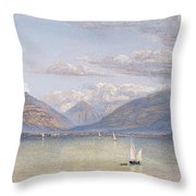 The Mountains Of St Gingolph Throw Pillow