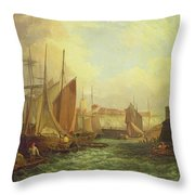 The Mouth Of The Yare, 1821 Throw Pillow