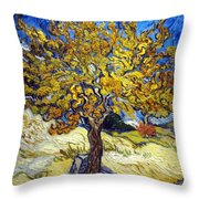 The Mulberry Tree Throw Pillow