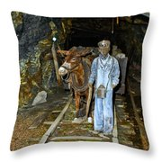 The Mule Boy Throw Pillow