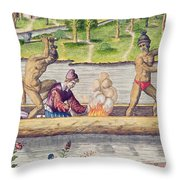 The Murder Of A Frenchman Throw Pillow