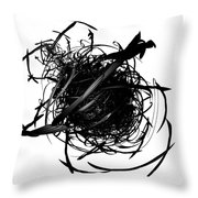 The Murder Of Crows By Jammer Throw Pillow