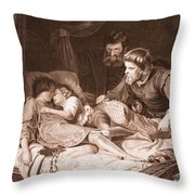 The Murder Of The Princes In The Tower Throw Pillow