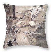 The Museum Con Throw Pillow