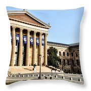 The Museum Of Art In Philadelphia Throw Pillow