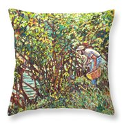 The Mushroom Picker Throw Pillow