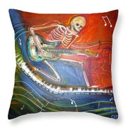 The Music Must Go On Throw Pillow