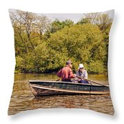The Music Never Ends - Central Park Pond - Nyc Throw Pillow