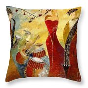 The Music Never Stopped Throw Pillow