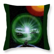 The Music Of The Universe Throw Pillow