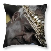 The Musicians Humble Bow To Applause  Throw Pillow