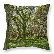 The Mysterious Forest - The Magical Trees Of The Los Osos Oak Reserve. Throw Pillow