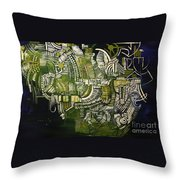 The Mysterious Harry Houdini Throw Pillow