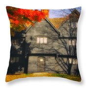 The Mysterious Witch House Of Salem Throw Pillow