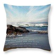 The Mystic Sea Throw Pillow