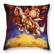 The Mystic Warrior Throw Pillow