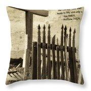 The Narrow Gate Throw Pillow