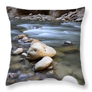 The Narrows One Step At A Time Throw Pillow