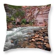 The Narrows Virgin River Throw Pillow